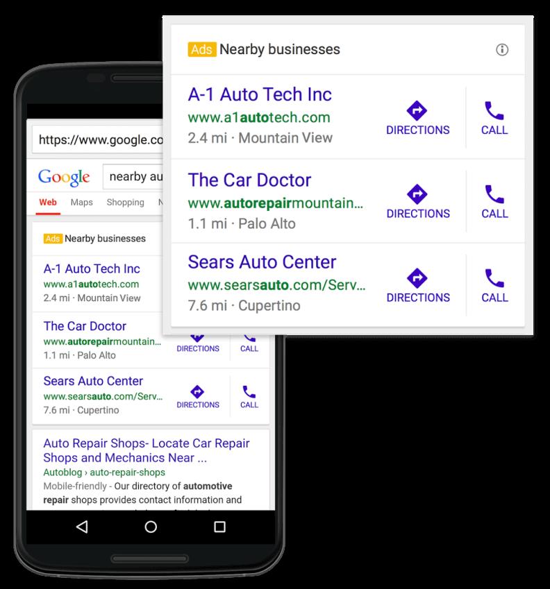 google adwords tylko połączenie