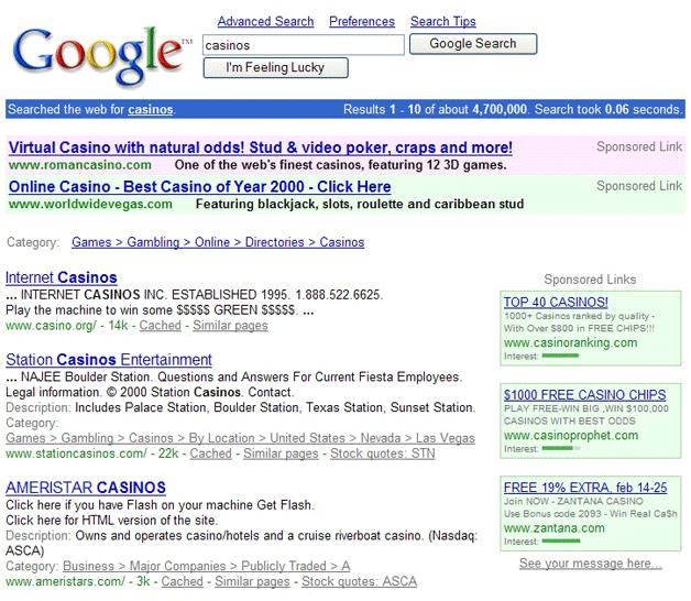 zmiany google adwords 2001
